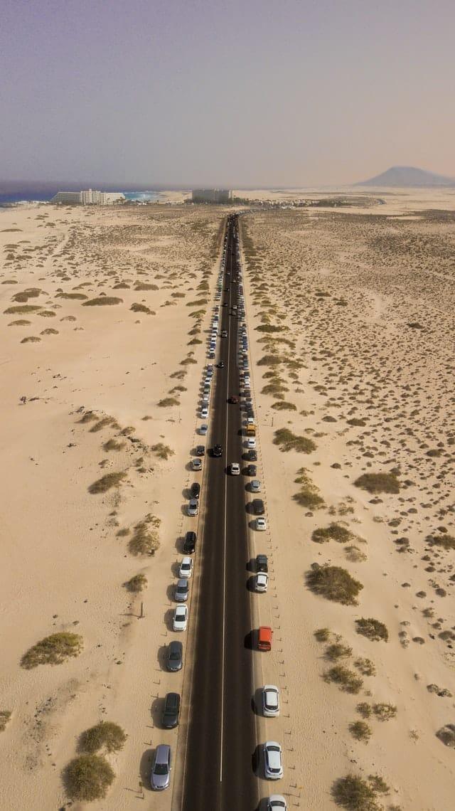 Palyas de arena blanca en Fuerteventura